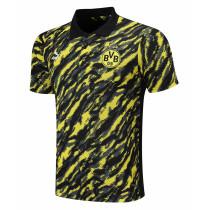 Mens Borussia Dortmund Polo Shirt Yellow-Black 2021/22