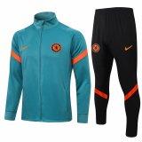 Mens Chelsea Jacket + Pants Training Suit Green 2021/22