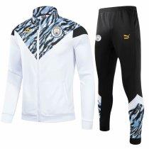 Mens Manchester City Jacket + Pants Training Suit White 2021/22