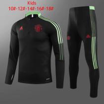Kids Manchester United Training Suit Black 2021/22