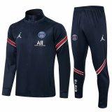 Mens PSG x Jordan Jacket + Pants Training Suit Navy 2021/22