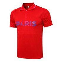Mens PSG x Jordan Polo Shirt Red 2021/22