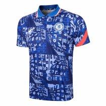 Mens Chelsea Polo Shirt Blue 2021/22