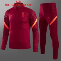 Kids Liverpool Training Suit Maroon 2021/22