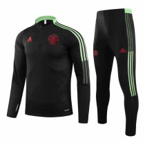 Mens Manchester United Training Suit Black 2021/22