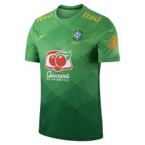 Mens Brazil Short Training Jersey Green 2021