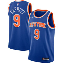 Mens New York Knicks Nike Black 2020/21 Swingman Jersey - Icon Edition