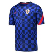 Mens Croatia Short Training Jersey Blue 2021/22