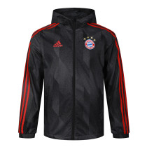 Mens Bayern Munich All Weather Windrunner Jacket Black 2021/22