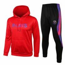 Mens PSG x JORDAN Hoodie Sweatshirt + Pants Suit Red 2021/22
