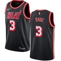 Mens Miami Heat Nike Black Swingman Jersey - Hardwood Classics Edition