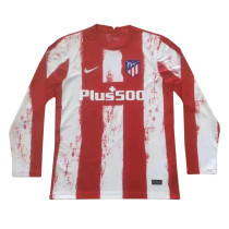 Mens Atletico Madrid Home Jersey Long Sleeve 2021/22