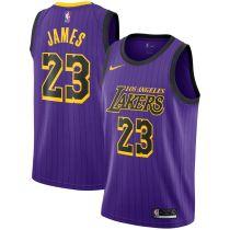 Mens Los Angeles Lakers Nike Purple 2018 Swingman Jersey - City Edition