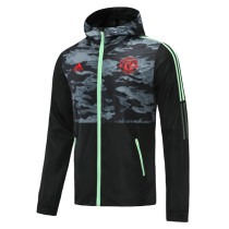 Mens Manchester United All Weather Windrunner Jacket Black 2021/22