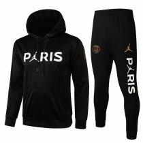 Mens PSG x JORDAN Hoodie Sweatshirt + Pants Suit Black III 2021/22