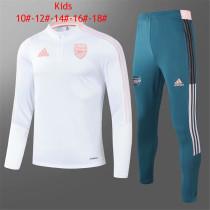 Kids Arsenal Training Suit White 2021/22