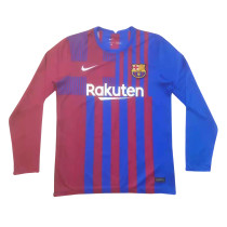 Mens Barcelona Home Jersey Long Sleeve 2021/22