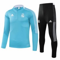 Mens Real Madrid Training Suit Blue 2021/22