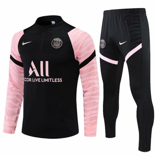 Mens PSG Training Suit Black - Pink 2021/22