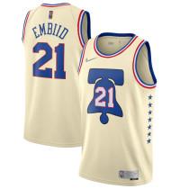 Mens Philadelphia 76Ers Nike Apricot 2021 Swingman Jersey - Earned Edition