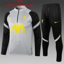 Kids Liverpool Training Suit Grey 2021/22