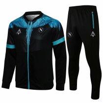 Mens Napoli Jacket + Pants Training Suit Black 2021/22