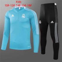 Kids Real Madrid Training Suit Blue 2021/22