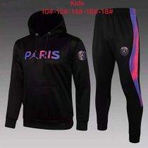 Kids PSG x JORDAN Hoodie Sweatshirt + Pants Suit Black 2021/22