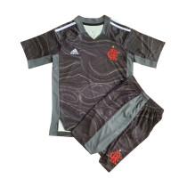 Kids Flamengo Grey Goalkeeper Jersey 2021/22
