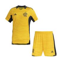Kids Flamengo Yellow Goalkeeper Jersey 2021/22