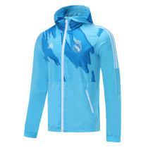 Mens Real Madrid All Weather Windrunner Jacket White 2021/22