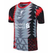 Mens Liverpool Short Training Jersey Grey 2021/22