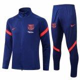 Mens Barcelona Jacket + Pants Training Suit Sharp Blue 2021/22