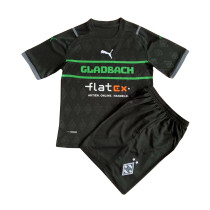 Kids VfL Borussia Monchengladbach Black Jersey 2021/22