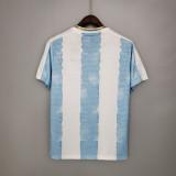 Mens Argentina Commemorative Edition White Blue Jersey 2021/22
