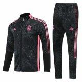 Mens Real Madrid Jacket + Pants Training Suit Black 2021/22
