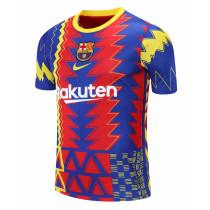 Mens Barcelona Short Training Jersey Red-Blue 2021/22