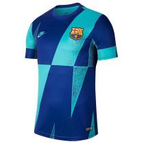 Mens Barcelona Short Training Jersey Blue 2021/22