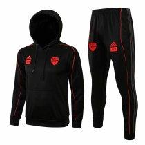 Mens Arsenal x 424 Hoodie Sweatshirt + Pants Suit Black 2021/22