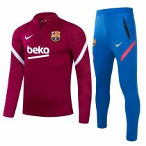 Mens Barcelona Training Suit Red 2021/22