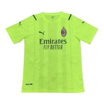 Mens AC Milan Short Training Jersey Yellow 2021/22