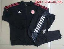 Mens S. C. Internacional Jacket + Pants Training Suit Black - Red 2021/22