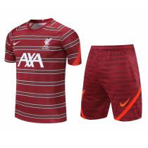 Mens Liverpool Short Training Suit Burgundy 2021/22