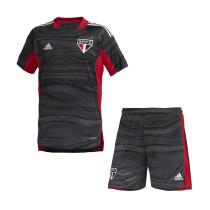 Kids Sao Paulo FC Goalkeeper Black Jersey 2021/22