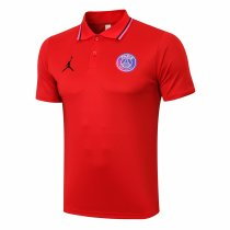 Mens PSG x Jordan Polo Shirt Red II 2021/22