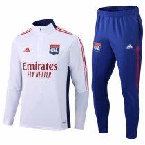 Mens Olympique Lyonnais Training Suit White 2021/22