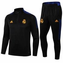 Mens Real Madrid Training Suit Black 2021/22