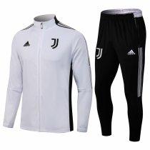 Mens Juventus Jacket + Pants Training Suit White 2021/22