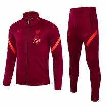 Mens Liverpool Jacket + Pants Training Suit Burgundy 2021/22