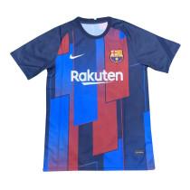 Mens Barcelona Short Training Jersey Blue - Red 2021/22